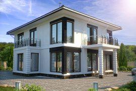 Монолитный бетонный дом